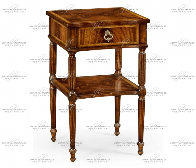 small rushmore Regency style mahogany bedside table