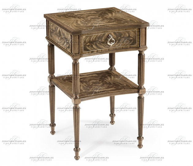 small rushmore Regency Bleached Mahogany Bedside Table