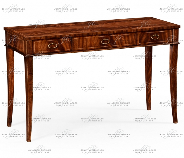 small rushmore Mahogany narrow desk or side table