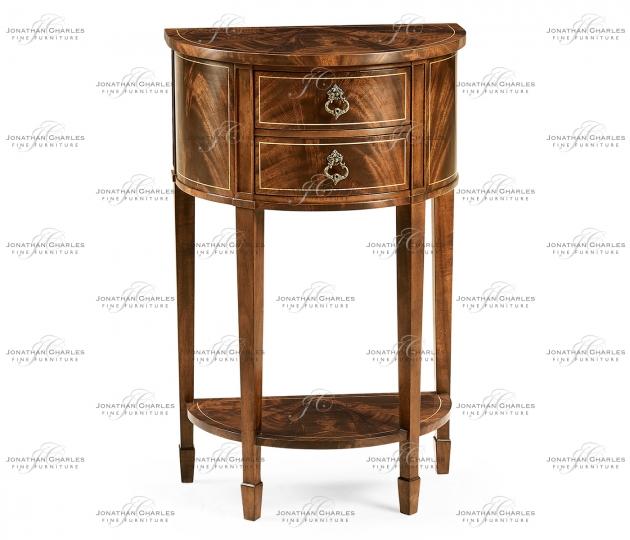 small rushmore Demilune Lamp Table