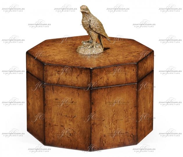 small rushmore Octagonal Walnut Box