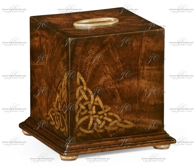 small rushmore Crotch Mahogany Tissue Box