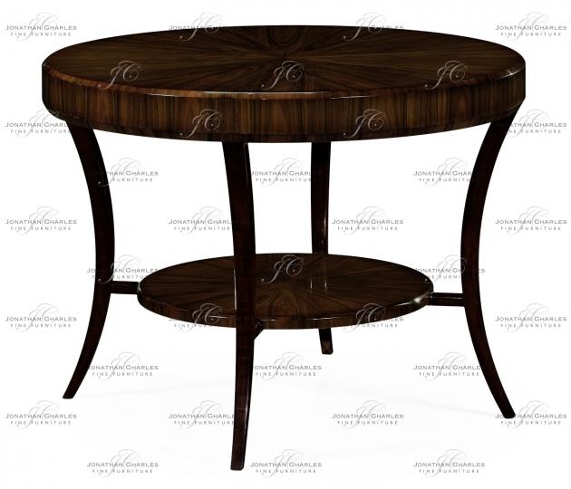 small rushmore Art Deco Macassar Ebony High Lustre Centre Table