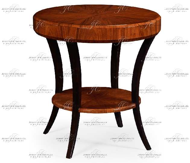small rushmore Art Deco High Lustre Round Side Table