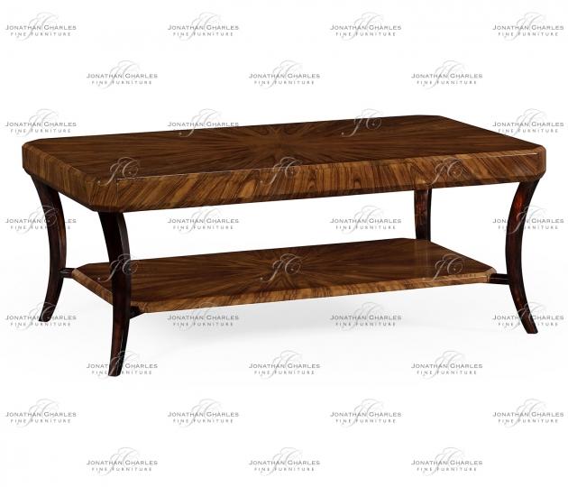 small rushmore Art Deco Satin Rectangular Coffee Table