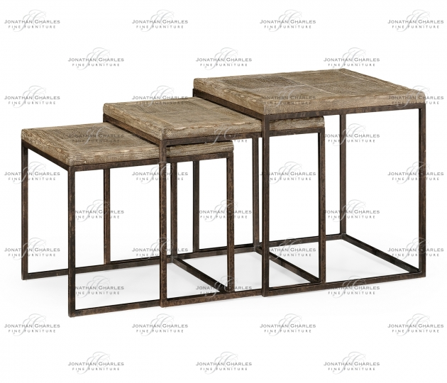 small rushmore Limed iron nest of tables