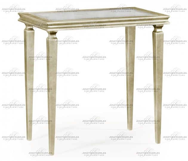 small rushmore Italian Silver Rectangular Side Table