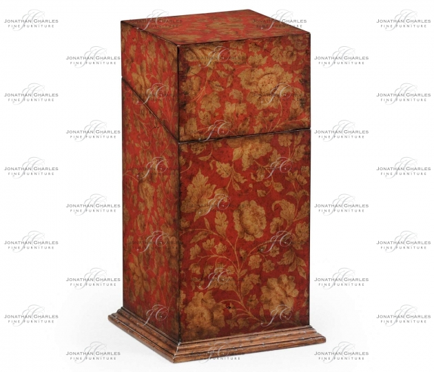 small rushmore Single Glass Decanter & Red Chinoiserie Case