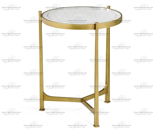 small rushmore Églomisé & Gilded Iron Medium Lamp Table