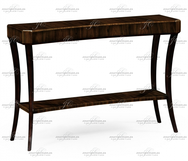 small rushmore Rectangular Art Deco Macassar Ebony High Lustre Console Table