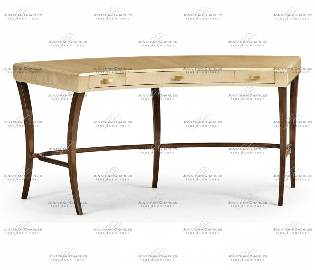 small rushmore Art Deco Curved Desk with Drawers