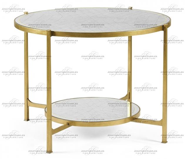small rushmore Églomisé & Gilt Iron Centre Table