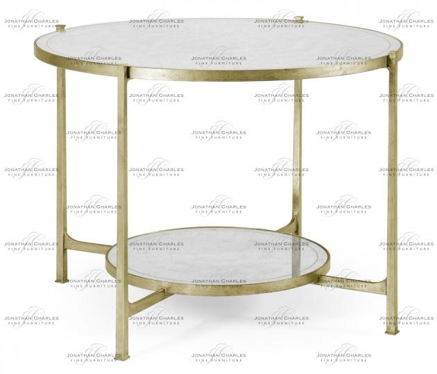 small rushmore Églomisé & Silver Iron Centre Table