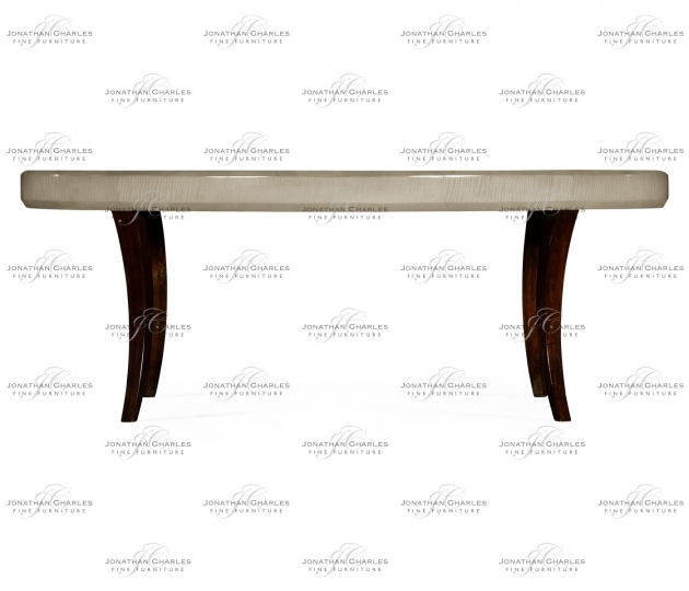 small rushmore Art Deco Oval Coffee Table