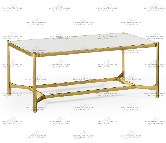 small rushmore Antique Mirror & Gilded Rectangular Coffee Table