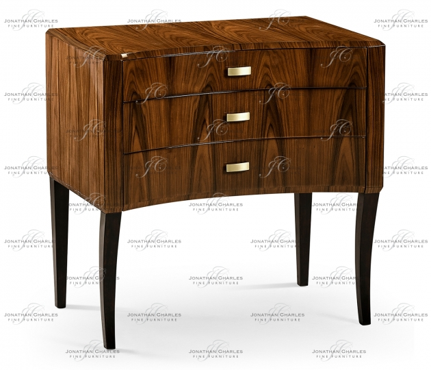 small rushmore Art Deco High Lustre Curved Chest of Drawers