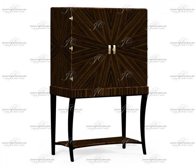 small rushmore Art Deco Macassar Ebony High Lustre Drinks Cabinet