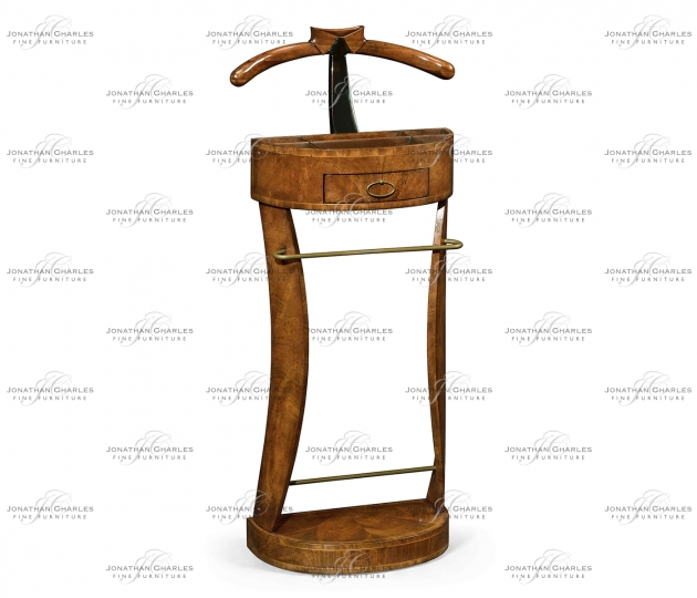 small rushmore Crotch Walnut Valet Stand with Stud Box
