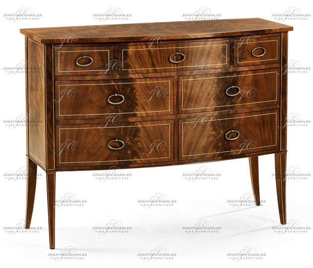 small rushmore Biedermeier Bow Front Chest
