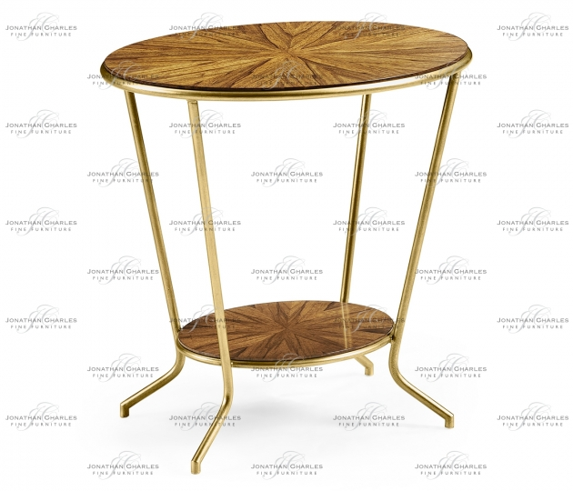 small rushmore Argentinian walnut veneered oval side table
