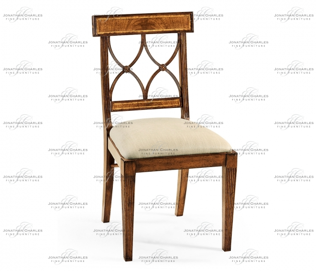 small rushmore Regency Crotch Walnut Curved Back Side Chair