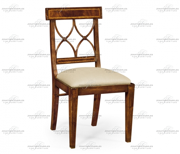 small rushmore Regency mahogany curved back chair (Side)