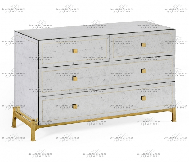 small rushmore Églomisé & Gilded Large Chest of Drawers