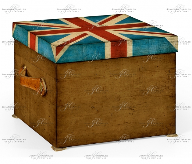 small rushmore Union Jack Square Box Painted