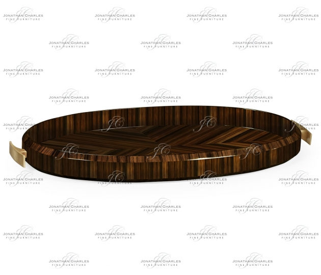 small rushmore Oval Art Deco Macassar Ebony High Lustre Tray
