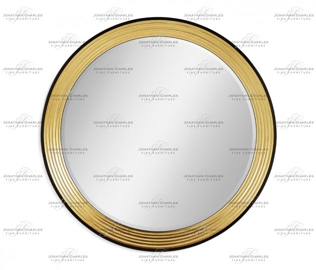small rushmore Contemporary Circular Recessed Gilded Mirror