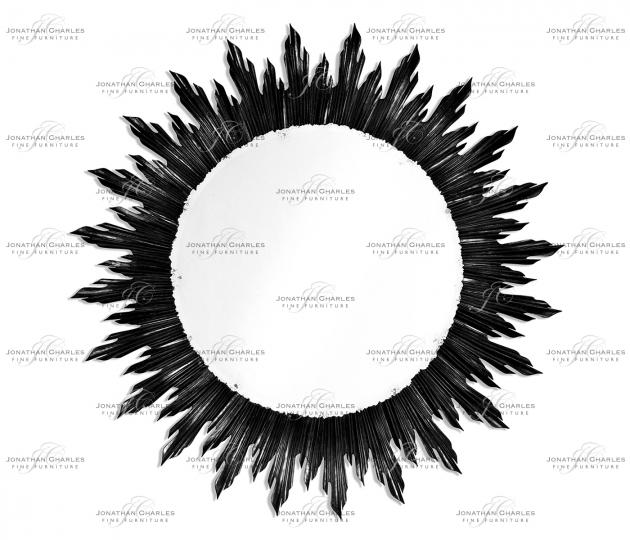 small rushmore Large black sunburst mirror