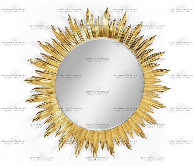small rushmore Large gilded sunburst mirror