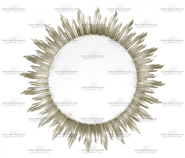 small rushmore Large silver sunburst mirror