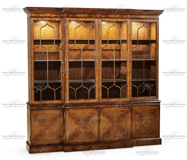 small rushmore Large Gothic Walnut China Cabinet