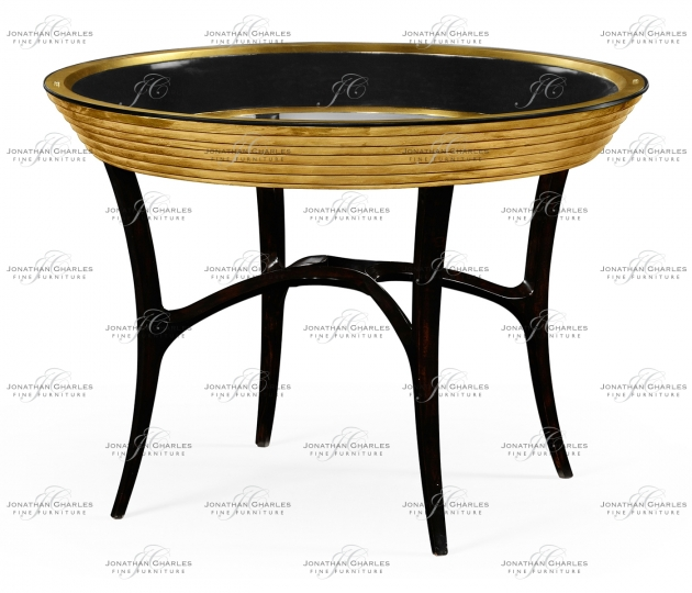 small rushmore Stepped Gilded Circular Centre Table