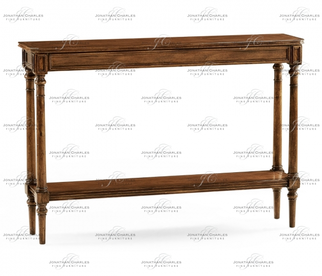 small rushmore Country living style narrow walnut console