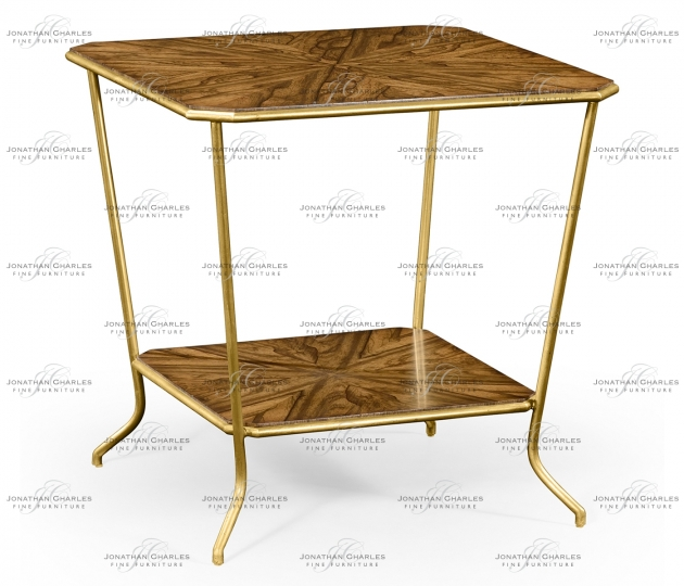 small rushmore Argentinian walnut veneered square side table