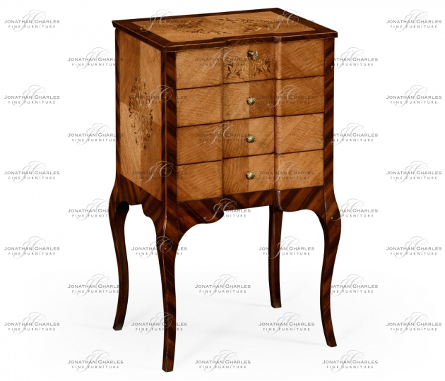 small rushmore Light Satinwood Collectors Cabinet