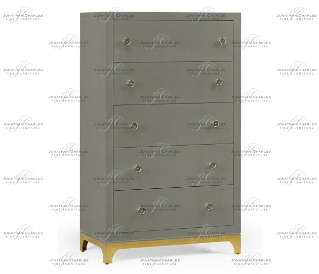 small rushmore Tall chest with blazer buttons (Slate/Gold)