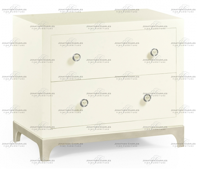 small rushmore Blanc & Silver Low Chest