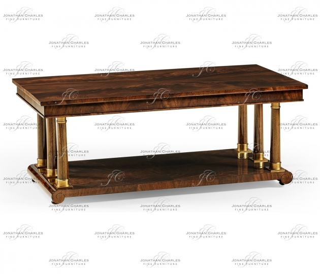 small rushmore Mahogany biedermeier style rectangular coffee table