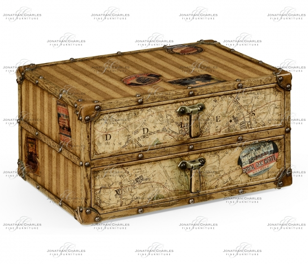 small rushmore Travel Trunk Style Desktop Chest