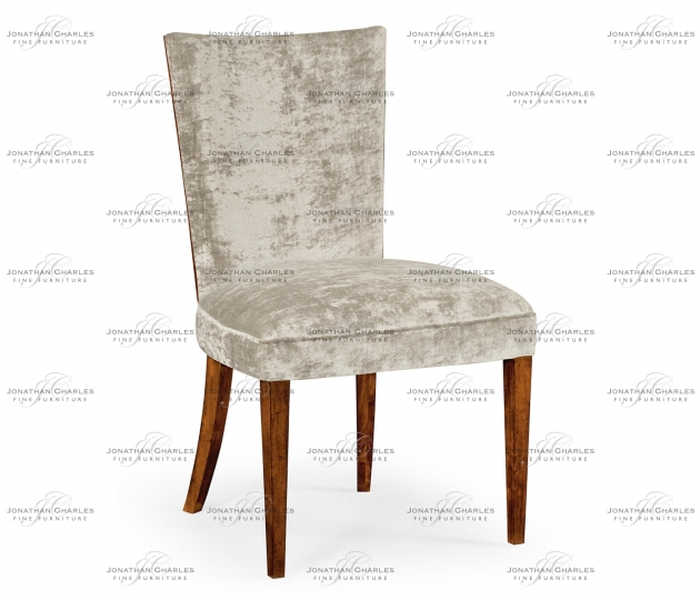 small rushmore Biedermeier style mahogany dining side chair (Calico)