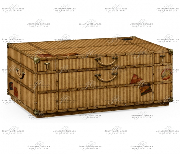 small rushmore Travel Trunk Style Coffee Table with Storage
