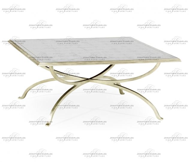 small rushmore Églomisé and Silver Square Coffee Table
