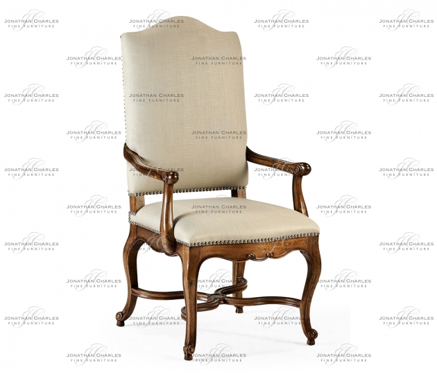 small rushmore French Baronial Style Country Arm Chair, Upholstered in MAZO