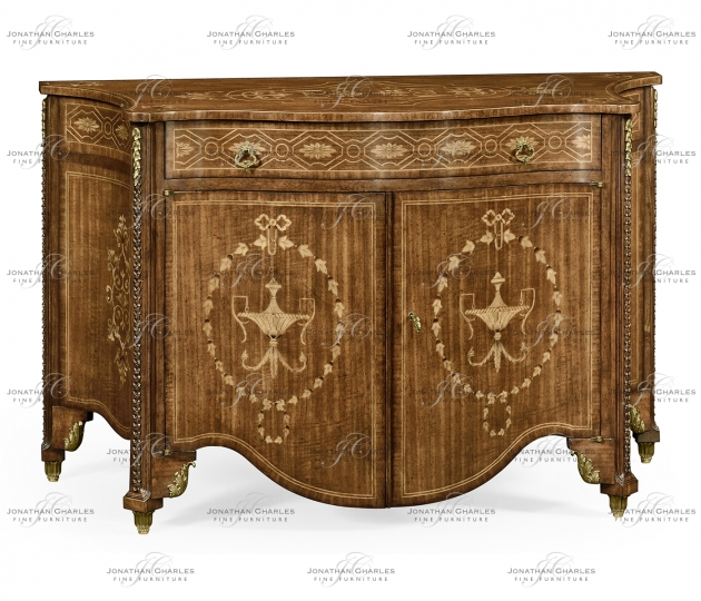 small rushmore Chippendale style commode with fine inlay