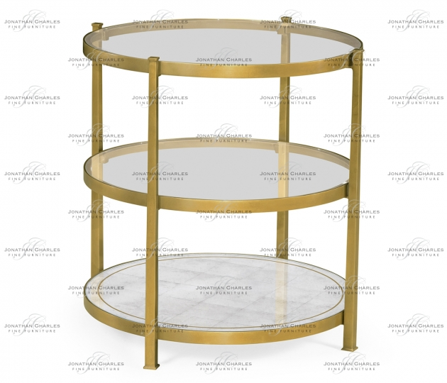 small rushmore Gilded Three Tier Table