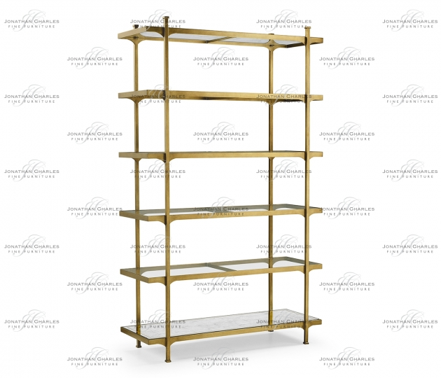 small rushmore Gilded Six Tier Étagère