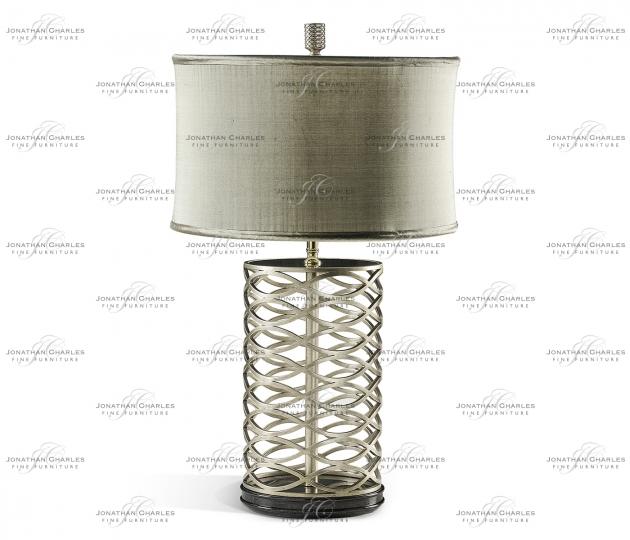 small rushmore Silver Interlaced Iron Table Lamp